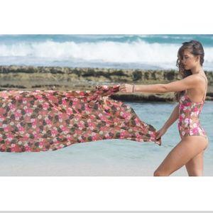 New acacia lei day kuau pareo sarong coverup OS